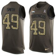 Wholesale Cheap Nike Broncos #49 Dennis Smith Green Men's Stitched NFL Limited Salute To Service Tank Top Jersey