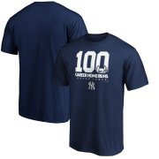 Wholesale Cheap New York Yankees #99 Aaron Judge Majestic 100th Career Home Run T-Shirt Navy