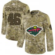 Wholesale Cheap Adidas Wild #46 Jared Spurgeon Camo Authentic Stitched NHL Jersey