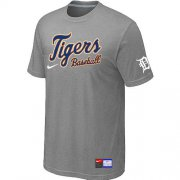 Wholesale Cheap Detroit Tigers Nike Short Sleeve Practice MLB T-Shirt Light Grey