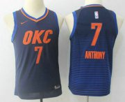 Cheap Youth Oklahoma City Thunder #7 Carmelo Anthony Navy Blue 2017-2018 Nike Swingman Stitched NBA Jersey