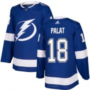 Cheap Adidas Lightning #18 Ondrej Palat Blue Home Authentic Stitched Youth NHL Jersey