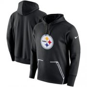 Wholesale Cheap Men's Pittsburgh Steelers Nike Black Champ Drive Vapor Speed Pullover Hoodie