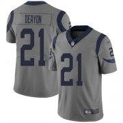 Wholesale Cheap Nike Rams #21 Donte Deayon Gray Men's Stitched NFL Limited Inverted Legend Jersey
