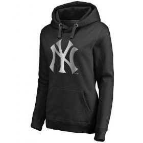 Wholesale Cheap Women\'s New York Yankees Platinum Collection Pullover Hoodie Black