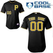 Wholesale Cheap Pirates Customized Authentic Black Cool Base MLB Jersey (S-3XL)