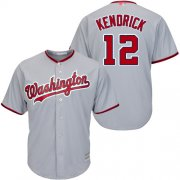Wholesale Cheap Nationals #12 Howie Kendrick Grey Cool Base Stitched MLB Jersey