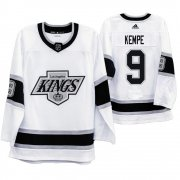 Wholesale Cheap Los Angeles Kings #9 Adrian Kempe Men's Adidas 2019-20 Heritage White Throwback 90s NHL Jersey