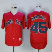 Wholesale Cheap Red Sox #45 Pedro Martinez Red New Cool Base Stitched MLB Jersey