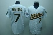 Wholesale Mitchell and Ness Athletics #7 Walt Weiss Stitched White Throwback Baseball Jersey