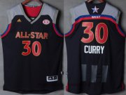 Wholesale Cheap Men's Western Conference Golden State Warriors #30 Stephen Curry adidas Black Charcoal 2017 NBA All-Star Game Swingman Jersey