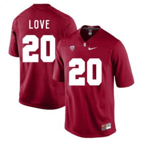 Wholesale Cheap Stanford Cardinal 20 Bryce Love Cardinal College Football Jersey