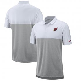 Wholesale Cheap Arizona Cardinals Nike Sideline Early Season Performance Polo White Gray