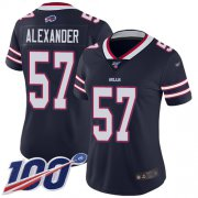 Wholesale Cheap Nike Bills #57 Lorenzo Alexander Navy Women's Stitched NFL Limited Inverted Legend 100th Season Jersey