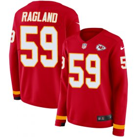 Wholesale Cheap Nike Chiefs #59 Reggie Ragland Red Team Color Women\'s Stitched NFL Limited Therma Long Sleeve Jersey