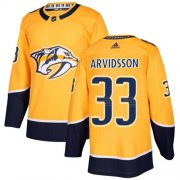 Wholesale Cheap Adidas Predators #33 Viktor Arvidsson Yellow Home Authentic Stitched NHL Jersey