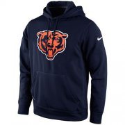 Wholesale Cheap Chicago Bears Nike KO Logo Essential Hoodie Navy Blue