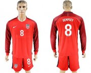 Wholesale Cheap USA #8 Dempsey Away Long Sleeves Soccer Country Jersey