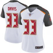 Wholesale Cheap Nike Buccaneers #33 Carlton Davis III White Women's Stitched NFL Vapor Untouchable Limited Jersey