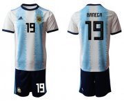 Wholesale Cheap Argentina #19 Banega Home Soccer Country Jersey
