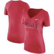 Wholesale Cheap Los Angeles Angels Nike Women's Tri-Blend Practice T-Shirt Red