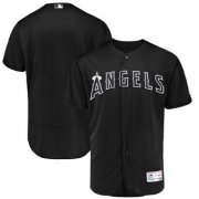 Wholesale Cheap Los Angeles Angels Blank Majestic 2019 Players' Weekend Flex Base Authentic Team Jersey Black