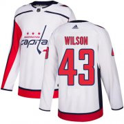 Wholesale Cheap Adidas Capitals #43 Tom Wilson White Road Authentic Stitched NHL Jersey