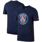 Wholesale Cheap Paris Saint-Germain Nike Team Crest Performance T-Shirt Navy
