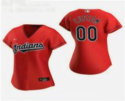 Wholesale Cheap Women's Custom Cleveland Indians 2020 Red Alternate Nike Jersey