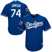 Wholesale Cheap Dodgers #74 Kenley Jansen Blue Cool Base 2018 World Series Stitched Youth MLB Jersey