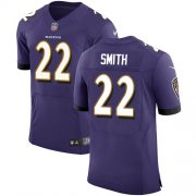 Wholesale Cheap Nike Ravens #22 Jimmy Smith Purple Team Color Men's Stitched NFL Vapor Untouchable Elite Jersey