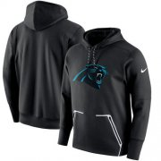 Wholesale Cheap Men's Carolina Panthers Nike Black Champ Drive Vapor Speed Performance Pullover Hoodie