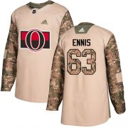 Wholesale Cheap Adidas Senators #63 Tyler Ennis Camo Authentic 2017 Veterans Day Stitched Youth NHL Jersey