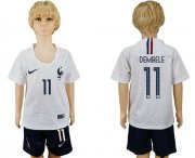 Wholesale Cheap France #11 Dembele Away Kid Soccer Country Jersey
