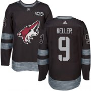 Wholesale Cheap Adidas Coyotes #9 Clayton Keller Black 1917-2017 100th Anniversary Stitched NHL Jersey