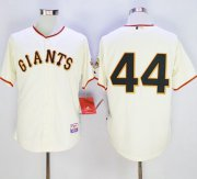 Wholesale Cheap Giants #44 Willie McCovey Cream Cool Base Stitched MLB Jersey