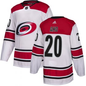 Wholesale Cheap Adidas Hurricanes #20 Sebastian Aho White Road Authentic Stitched Youth NHL Jersey