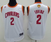 Wholesale Cheap Men's Cleveland Cavaliers #2 Kyrie Irving White 2017 The NBA Finals Patch Jersey