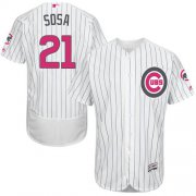 Wholesale Cheap Cubs #21 Sammy Sosa White(Blue Strip) Flexbase Authentic Collection Mother's Day Stitched MLB Jersey