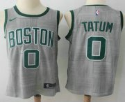 Wholesale Cheap Men's Boston Celtics #0 Jayson Tatum Gray NBA Swingman City Edition Jersey
