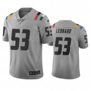 Wholesale Cheap Indianapolis Colts #53 Darius Leonard Gray Vapor Limited City Edition NFL Jersey