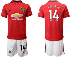 Wholesale Cheap Manchester United #14 Lingard Red Home Soccer Club Jersey