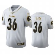 Wholesale Cheap Pittsburgh Steelers #36 Jerome Bettis Men's Nike White Golden Edition Vapor Limited NFL 100 Jersey