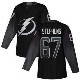 Cheap Adidas Lightning #67 Mitchell Stephens Black Alternate Authentic Youth Stitched NHL Jersey