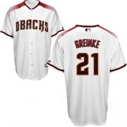 Wholesale Cheap Diamondbacks #21 Zack Greinke White/Brick New Cool Base Stitched MLB Jersey