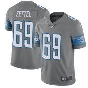 Wholesale Cheap Nike Lions #69 Anthony Zettel Gray Youth Stitched NFL Limited Rush Jersey