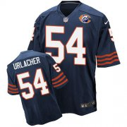 Wholesale Nike Bears #54 Brian Urlacher Navy Blue Throwback Men's Stitched NFL Elite Jersey