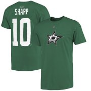 Wholesale Cheap Dallas Stars #10 Patrick Sharp Reebok Name and Number T-Shirt Green
