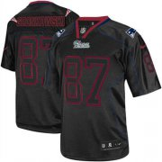 Wholesale Cheap Nike Patriots #87 Rob Gronkowski Lights Out Black Men's Stitched NFL Elite Jersey