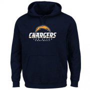 Wholesale Cheap Los Angeles Chargers Critical Victory Pullover Hoodie Navy Blue